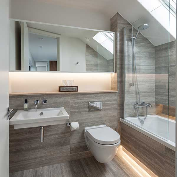 Visual Tricks To Widen Small Bathroom