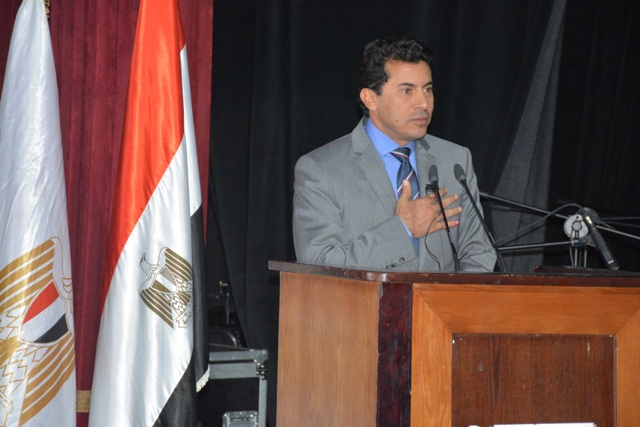 Egyptian Minister of Sports and Youth Affairs Ashraf Sobhy