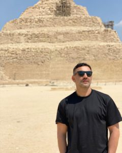 Riccardo Tisci's Photo in Front of Pyramids