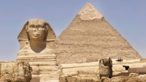 The Middle Pyramid and the Sphinx