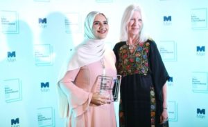 Jokha Alharthi with translator Marilyn Booth