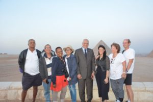 Tourism Minister with the South African Tourists at Pyramids Plateau