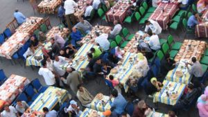 Muslims waiting for Iftar during Ramadan in Egypt