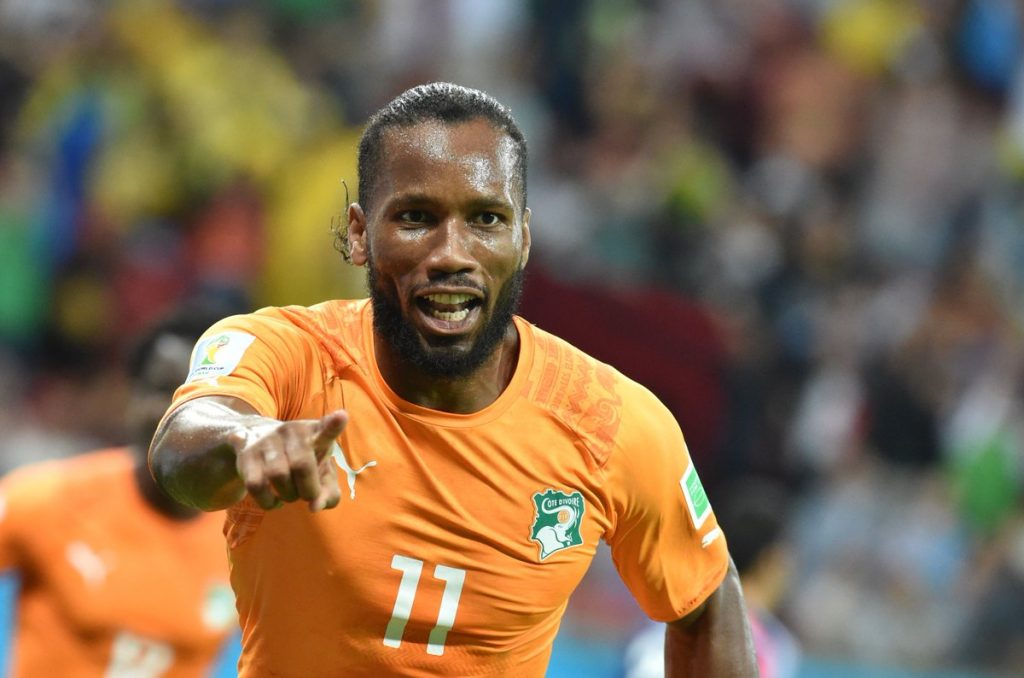 UEFA Didier Drogba with Ivory Coast national team