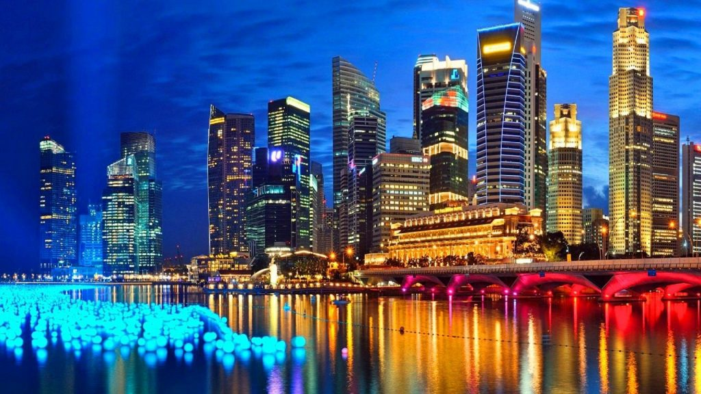 City Lights in Singapore