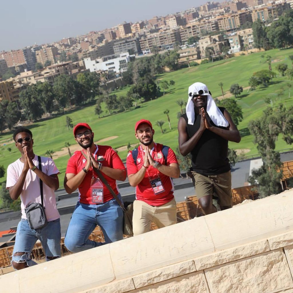 Four men in Giza