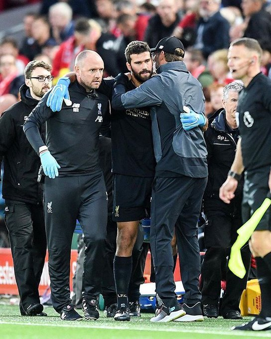 Alisson is suffering a calf injury