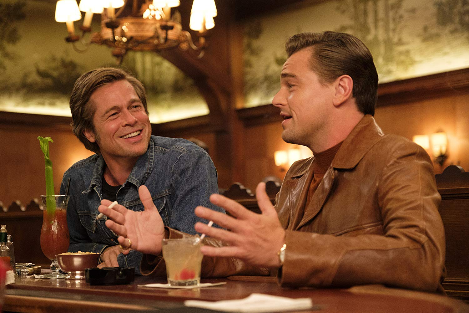 Brad Pitt and Leonardo DiCaprio in Once Upon a Time
