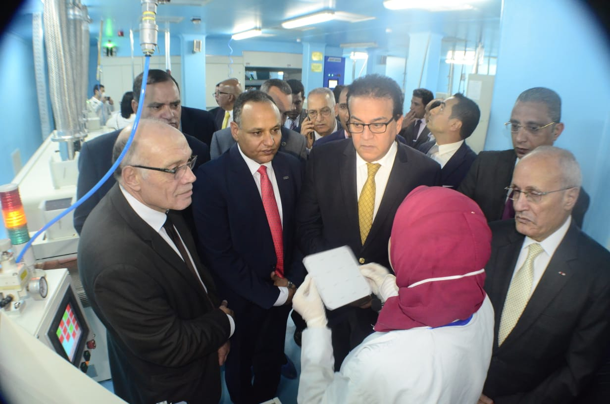 Egypt Higher Education and Scientific Research Minister Dr. Khaled Abdel Ghaffar, Military Production Minister Dr. Mohamed Al Assar, and Academy of Scientific Research and Technology (ASRT) President Dr. Mahmoud Sakr