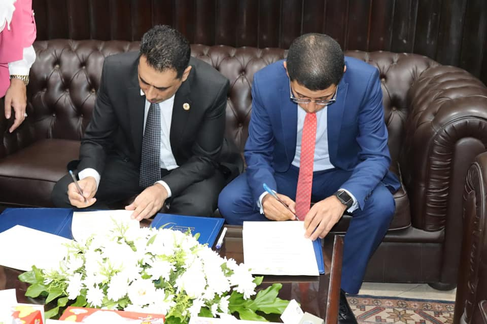 Dr. Mahmoud El-Said, Dean of the Faculty of Economics and Political Science at Cairo University ( FEPS ), signed a cooperation protocol between the IBDL Foundation and the Faculty.