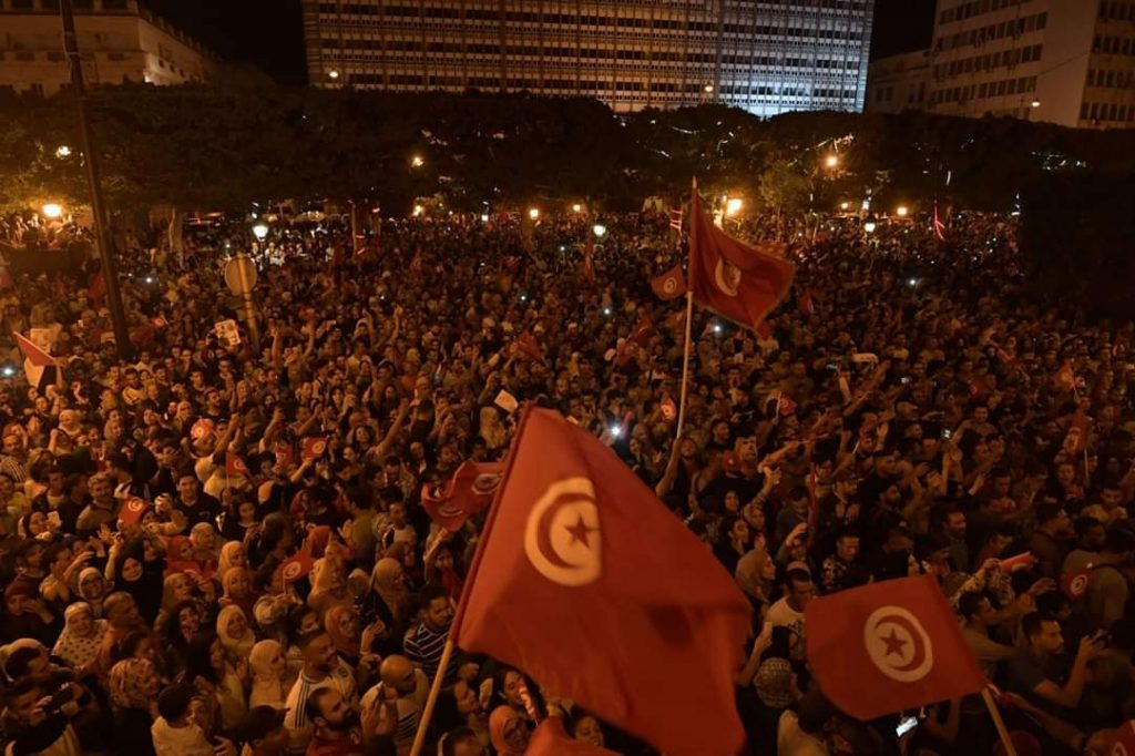 Tunisians took to streets celebrating Saied's victory