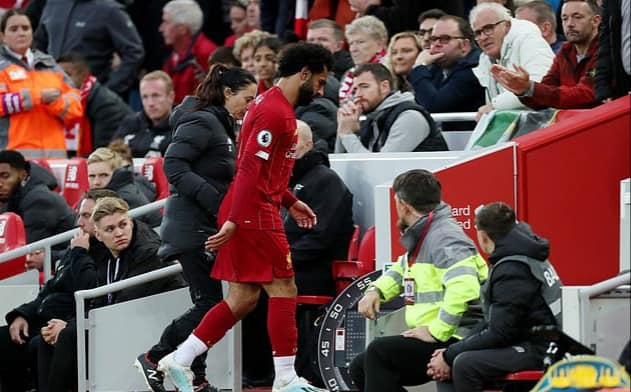 Mo Salah is Leaving Anfield ground following his injury