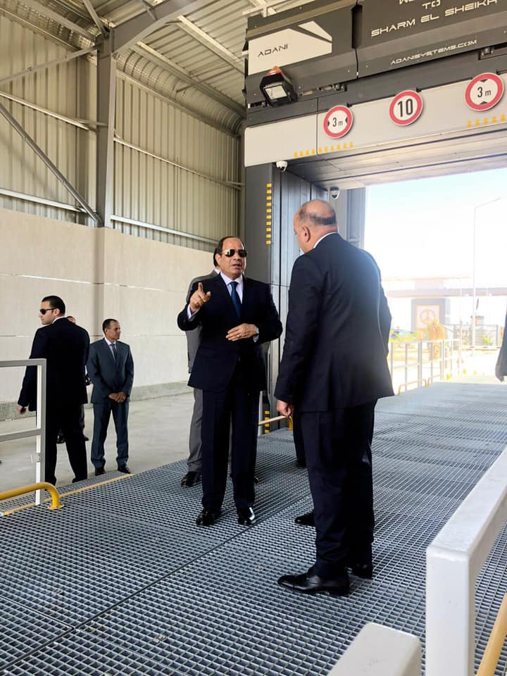 President Sisi during Inspection Tour in Sharm El Sheikh