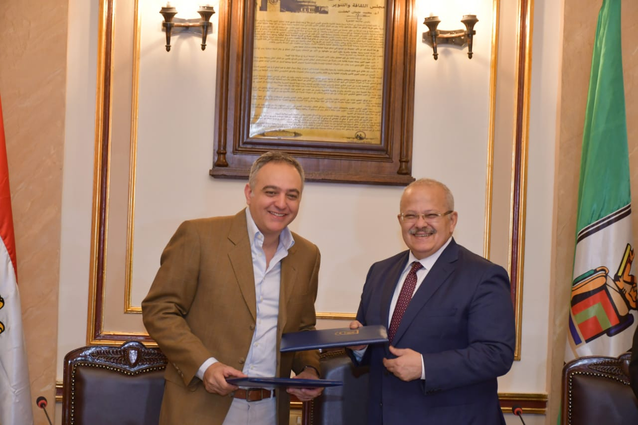 Dr. Mohamed Othman Elkhosht, the President of Cairo University, signed a cooperation protocol with the 41st Cairo International Film Festival
