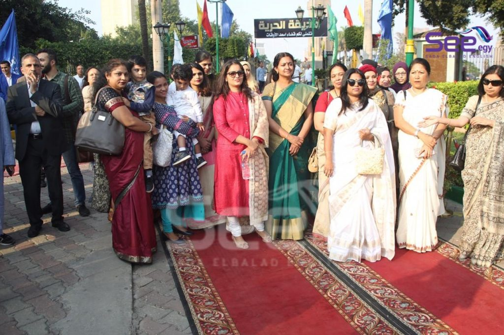 The Indian community in Cairo attend the celebration