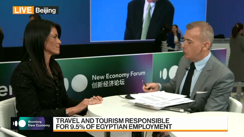 Tourism Minister of Egypt and Manus Cranny of Bloomberg