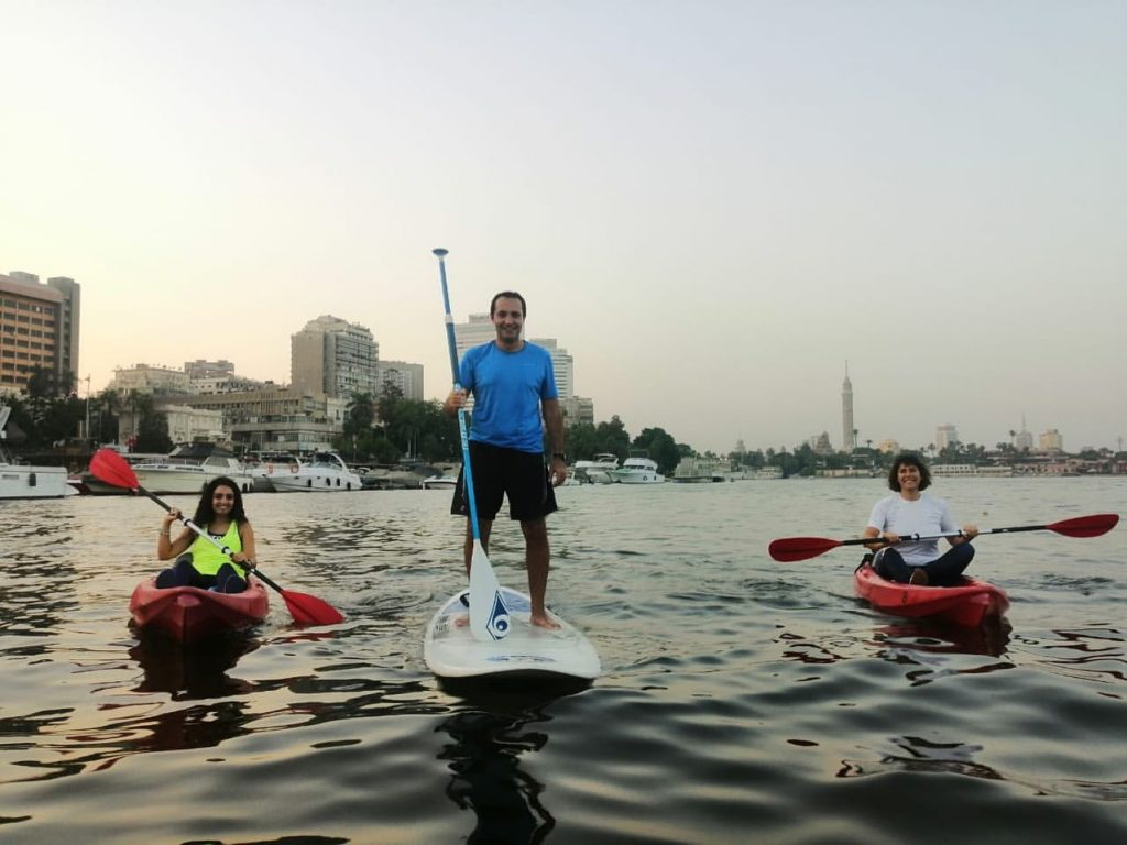 Kayaking in Nile River in Cairo