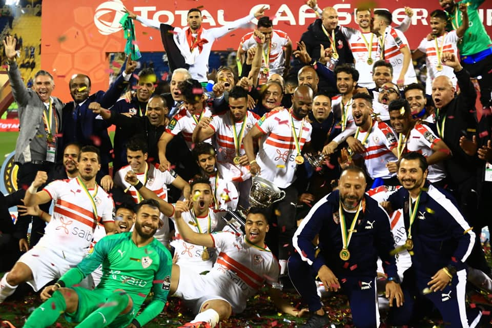 Image result for zamalek SC players with a trophy