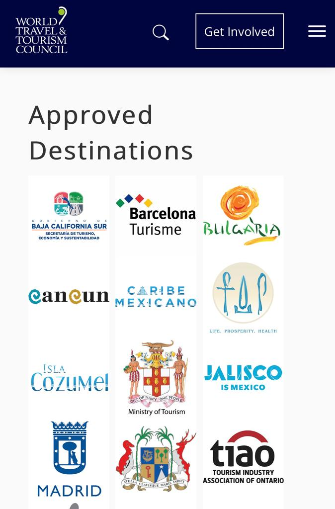WTTC Approved Destinations