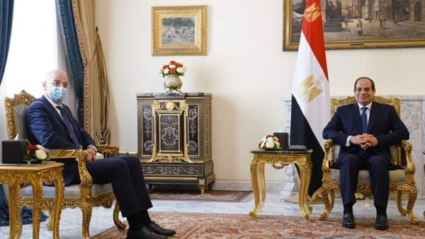 Sisi, Greece's FM Discuss Situation in Libya and Regional Files