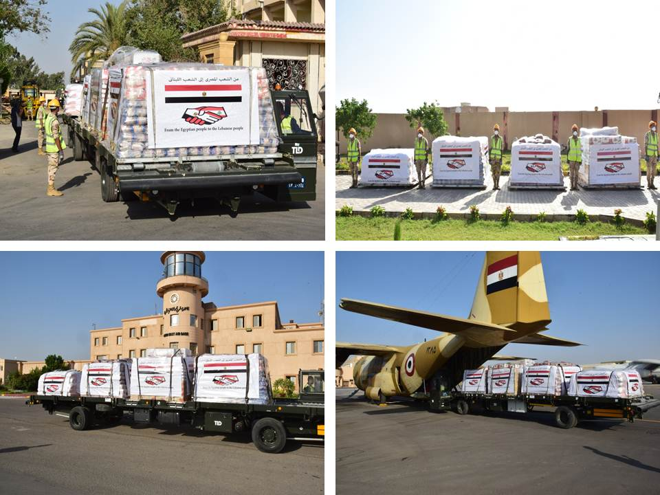 Egypt's 2nd Aircraft Laden with Aid to Beirut