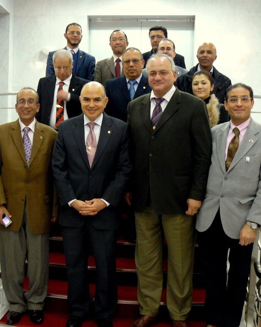 Dr. Bahaa with university professors