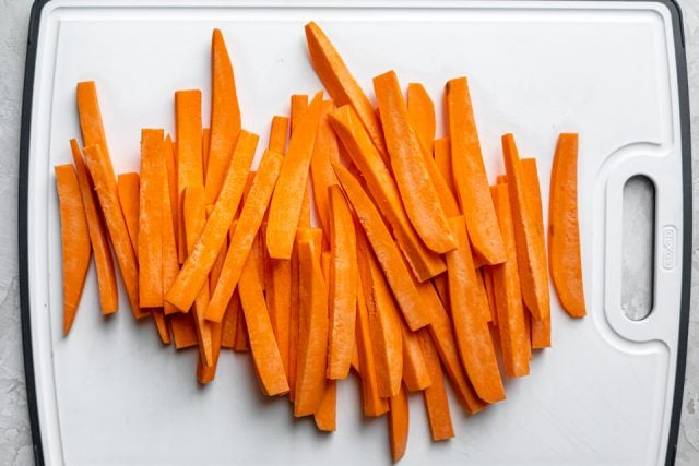 Sweet potato finger sized fries