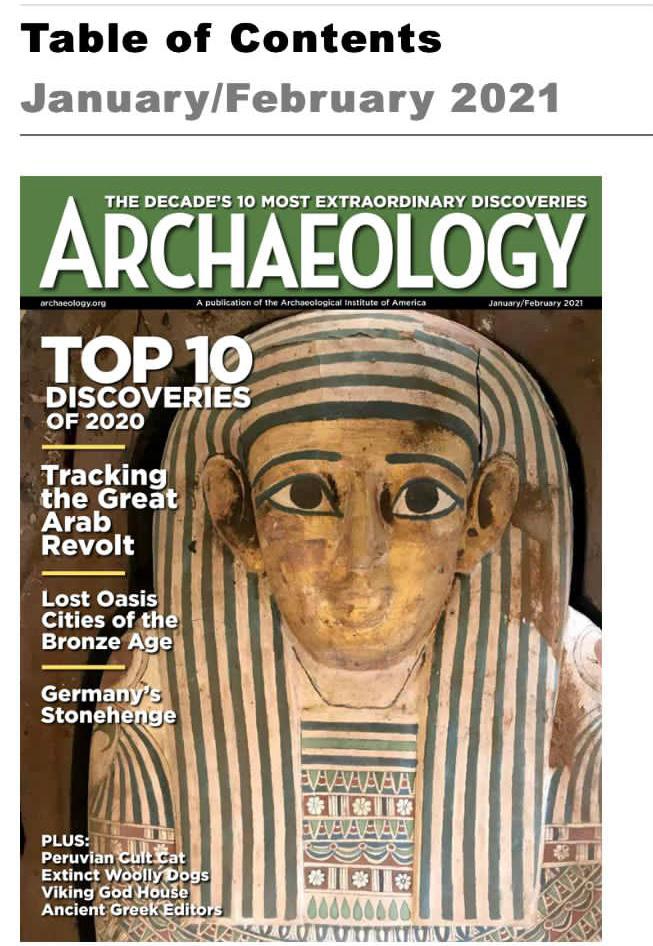 US Magazine Chooses Saqqara's Mummy Cache As One of Top 10 Discoveries in 2020