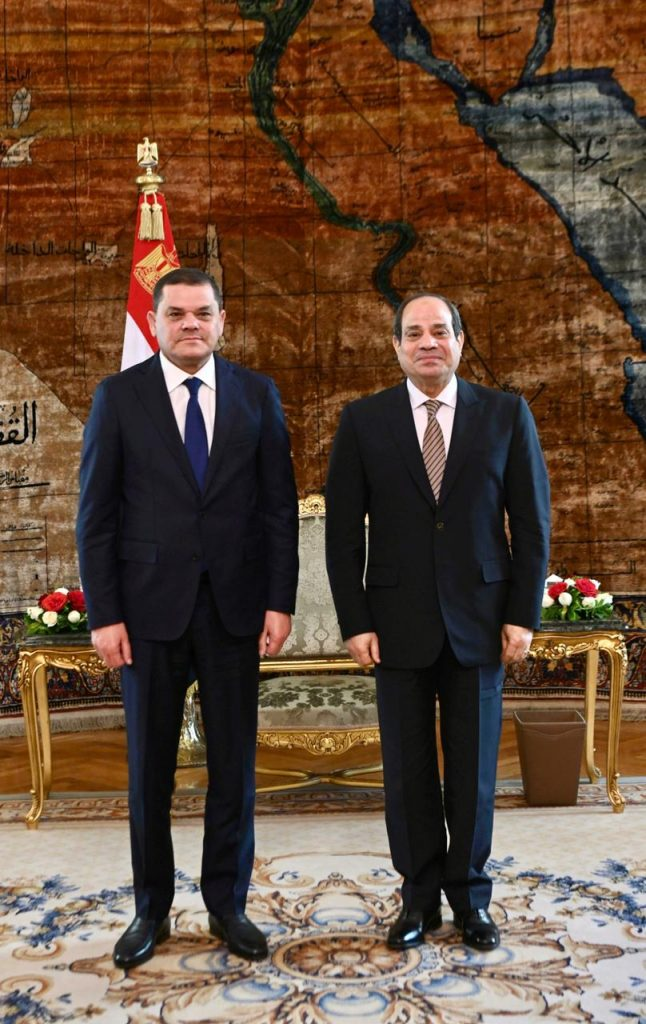 Sisi Receives Libya's New Prime Minister Dbeibah