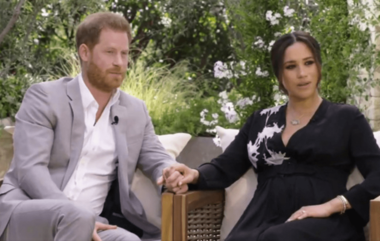 The Sussexes: Prince Harry, Meghan Markle during Oprah Winfrey Interview