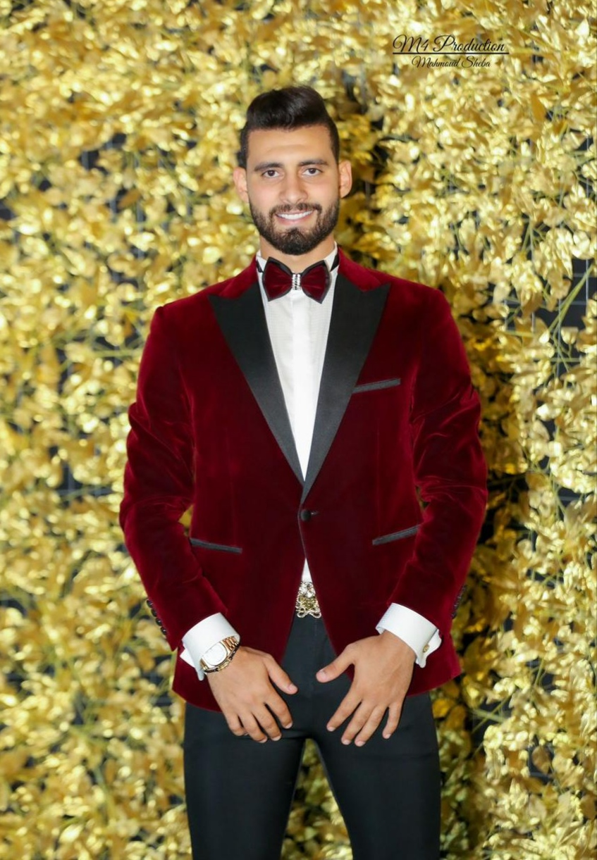 Captain Baher El Mohamady with trendy suit by Sadoon