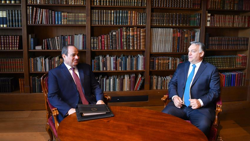 Sisi, Hungarian PM Discuss Fostering Ties, Regional Issues